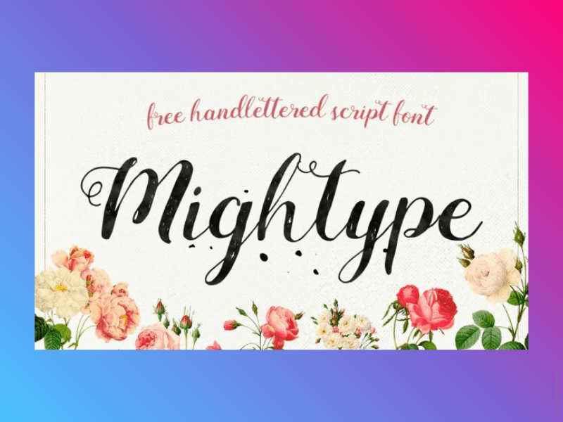 21+ Best Free Handwritten Fonts For Any Purpose Use 20