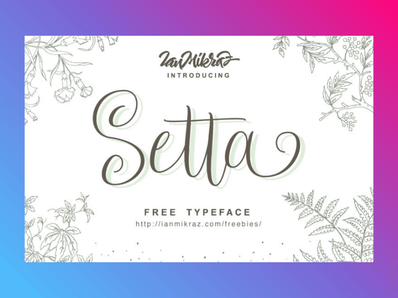 21+ Best Free Handwritten Fonts For Any Purpose Use 9