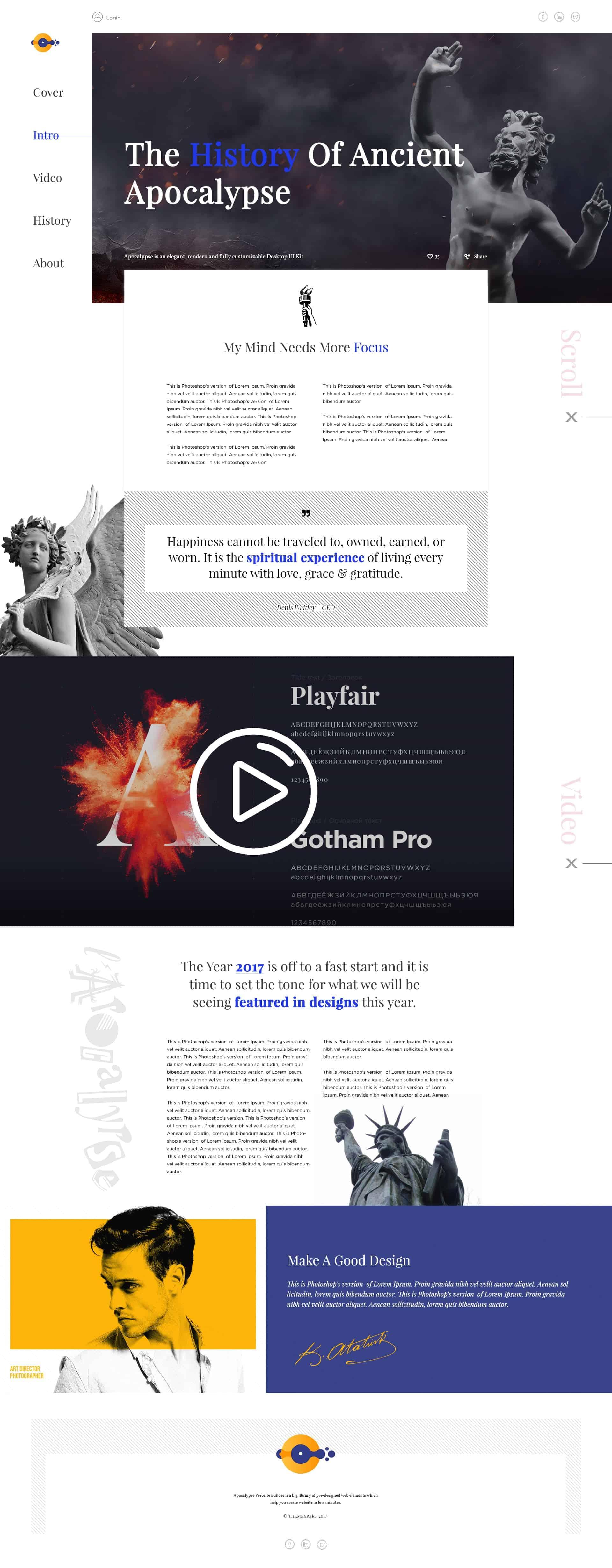 Free Portfolio PSD Web Templates Download 1