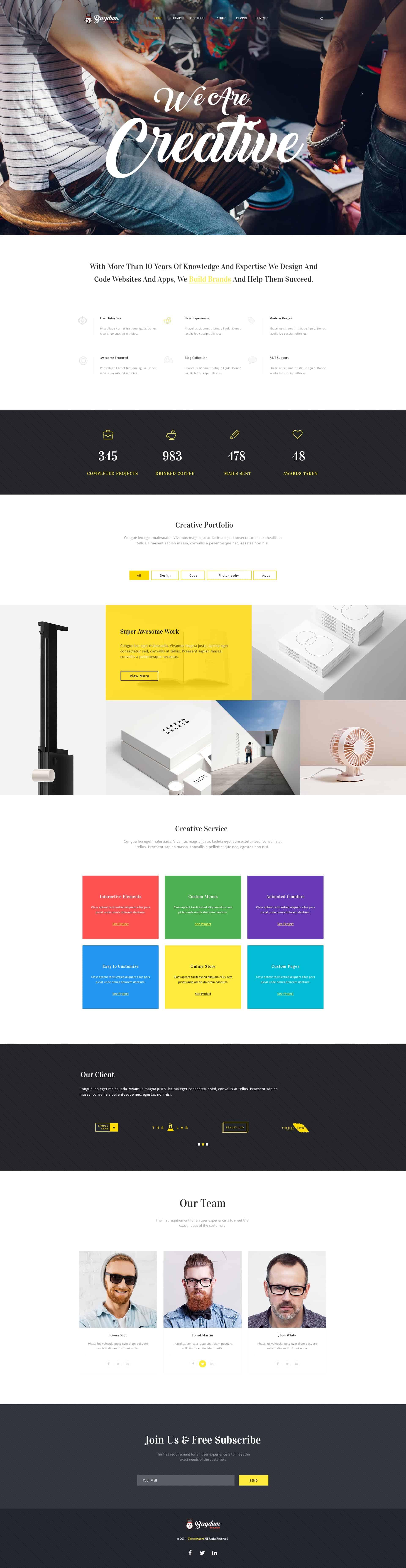Bagdum UI Kit - Website Template for Creative Agency 1