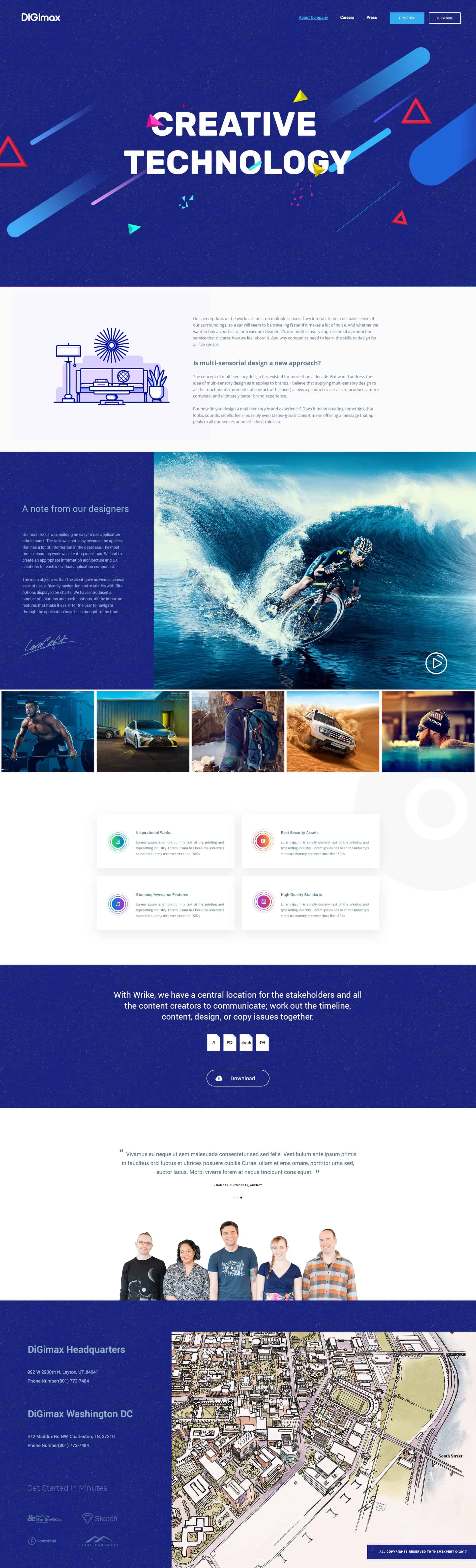 Creative Agency Free Template Download 1