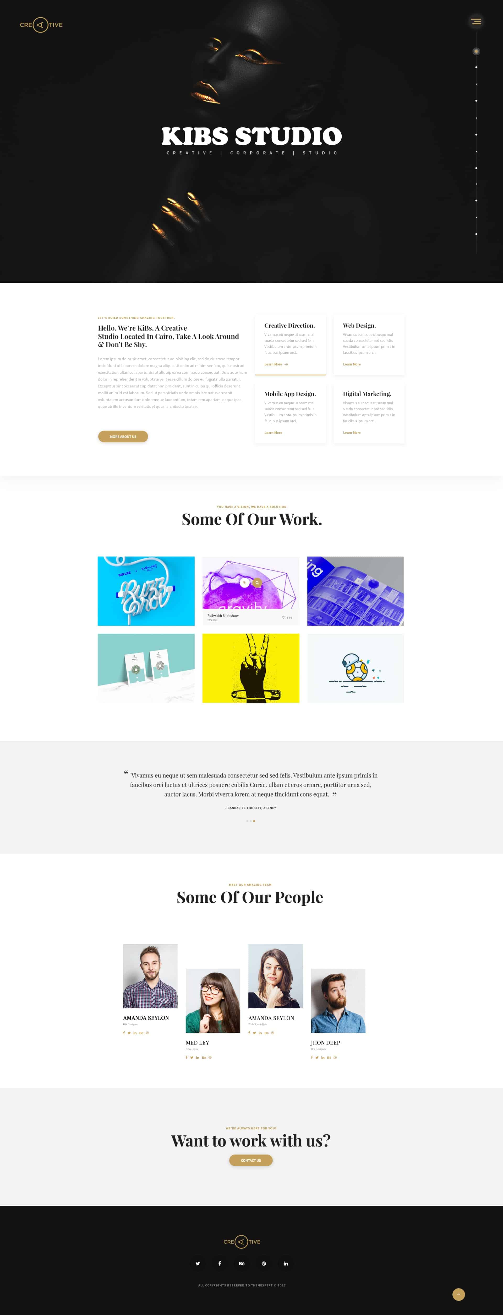Free PSD For Corporate, Agency & Creative Studio 1
