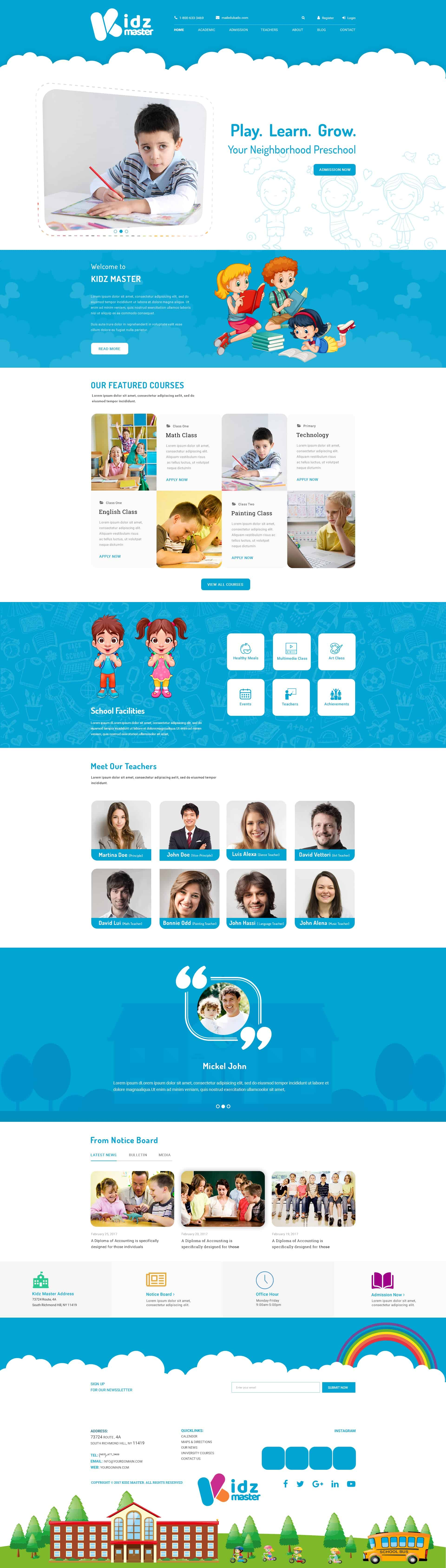 Kidz Master - Free Preschools PSD Resource 1