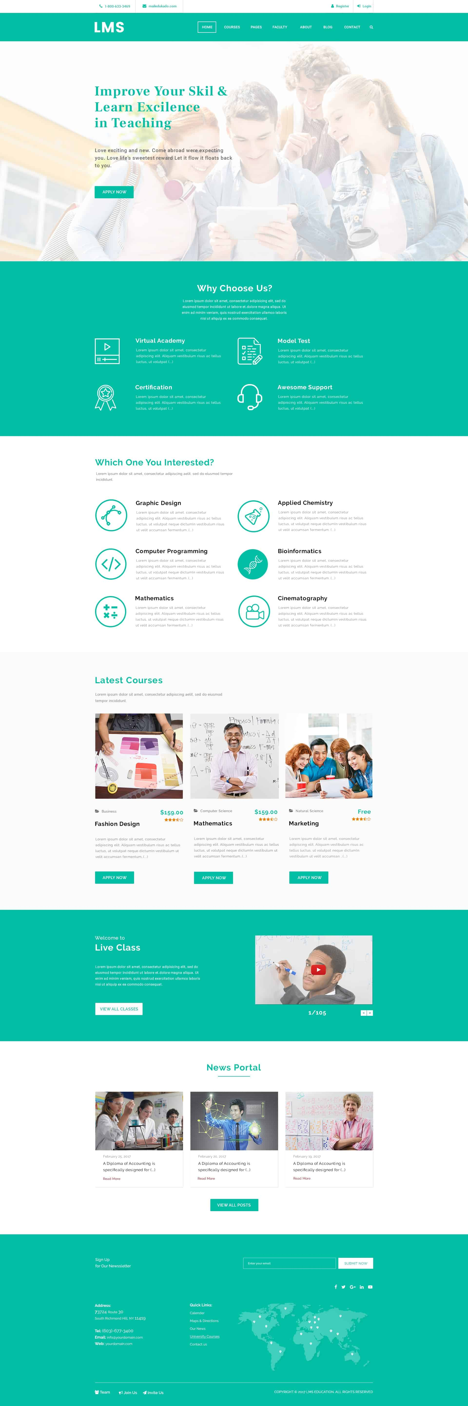 LMS - Learning Management System Free PSD 1
