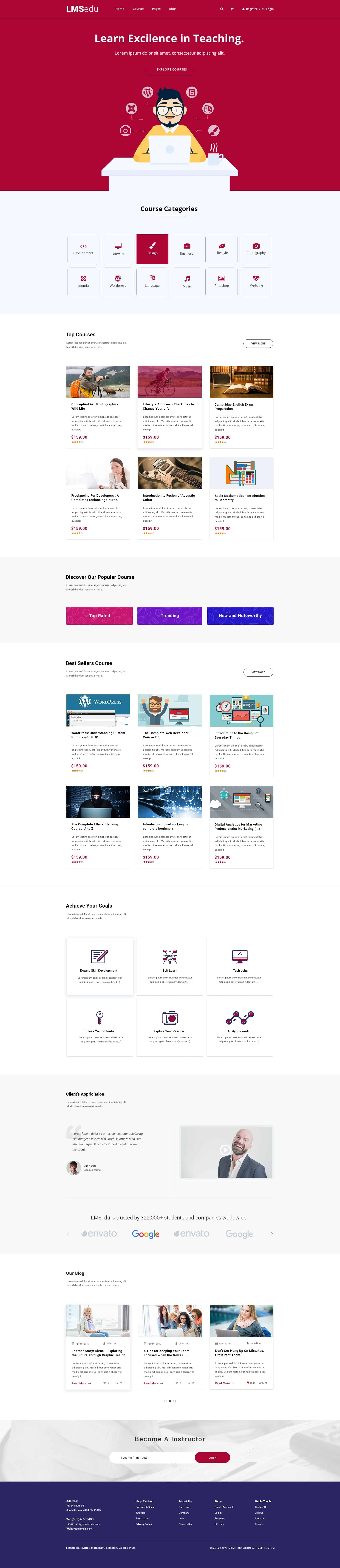 Education Website Templates PSD Free Download 1