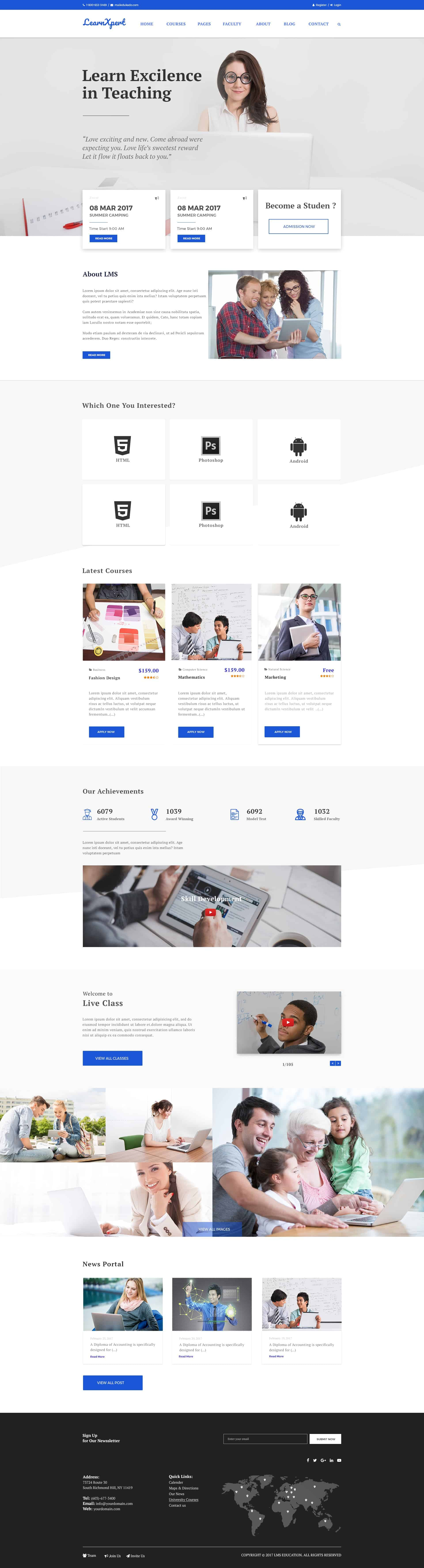 Free LMS Education and Website Template 1