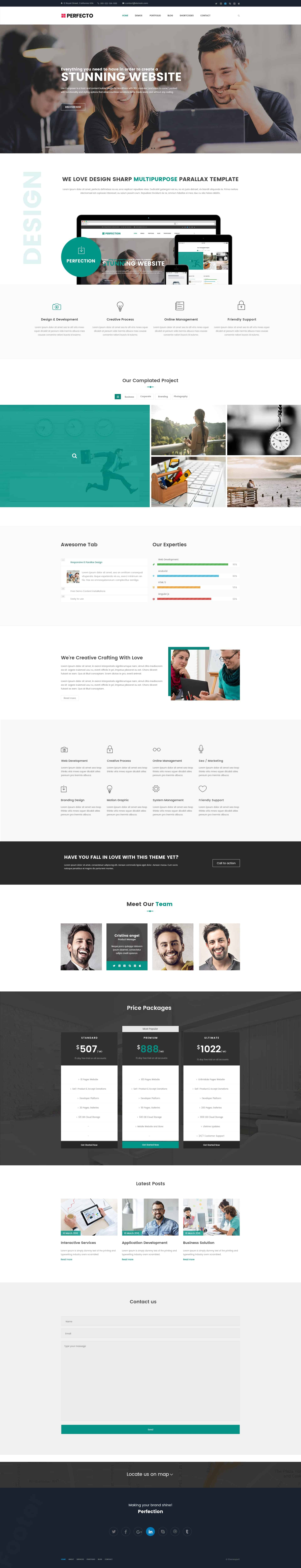Free One Page PSD Template For Business 1