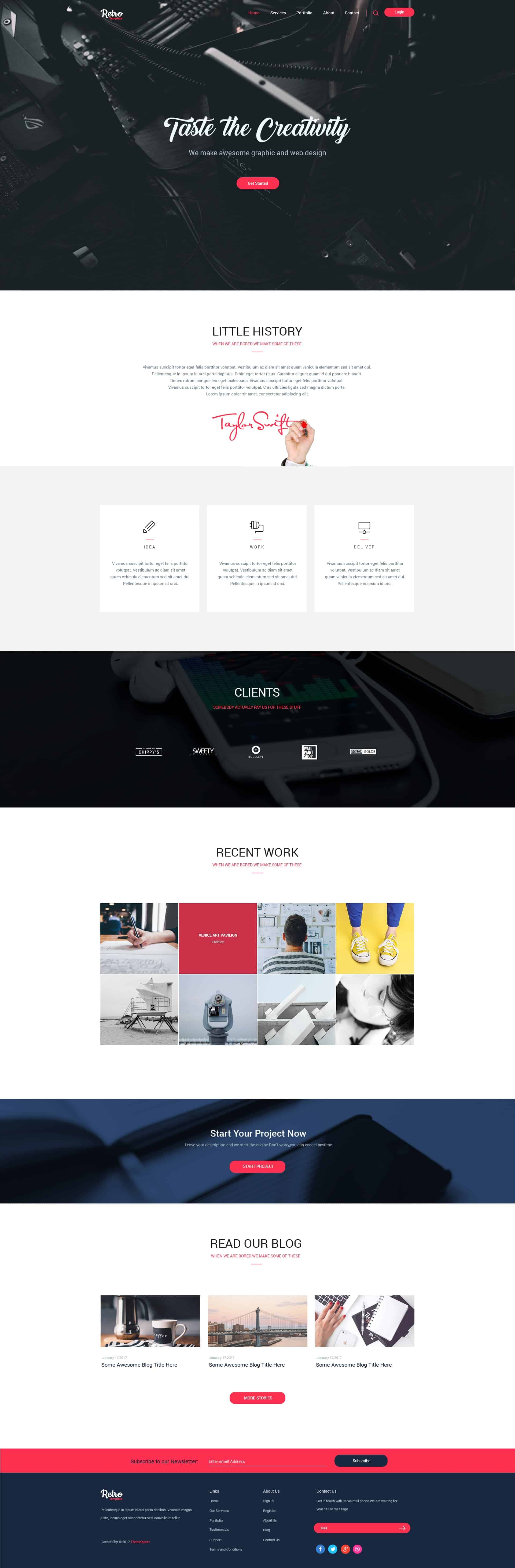 High Creative Free PSD For Corporate Agency 1