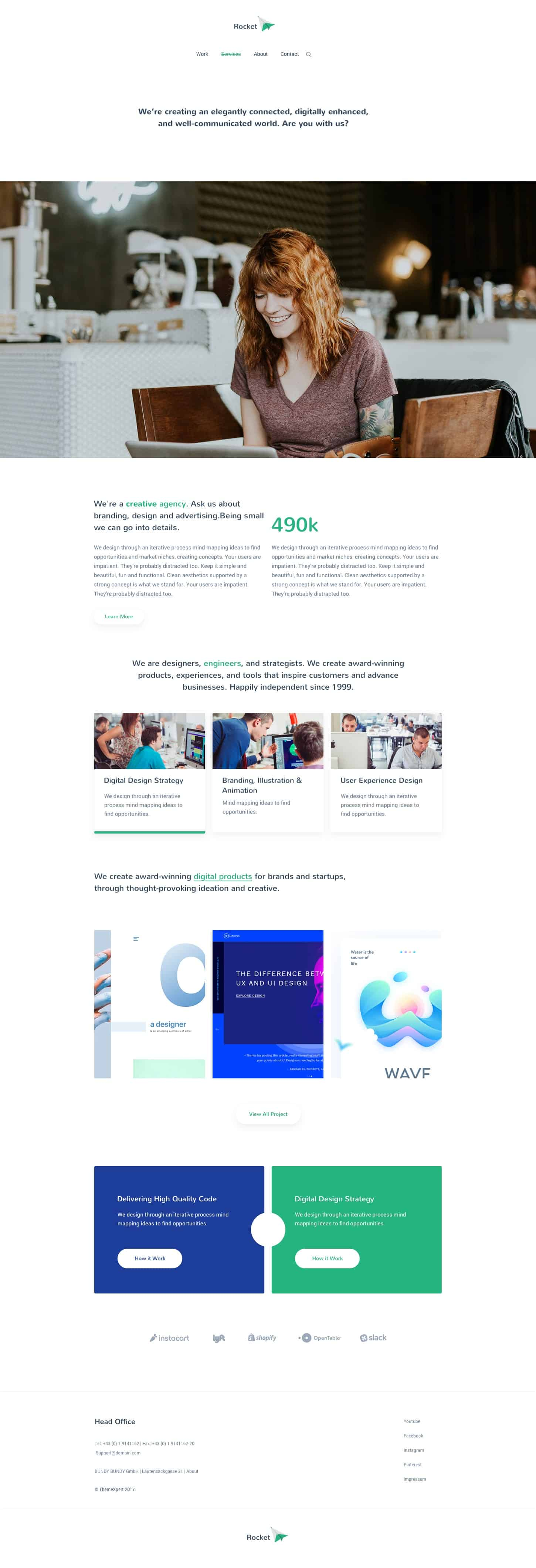Agency Template For Sketch Free Download 1