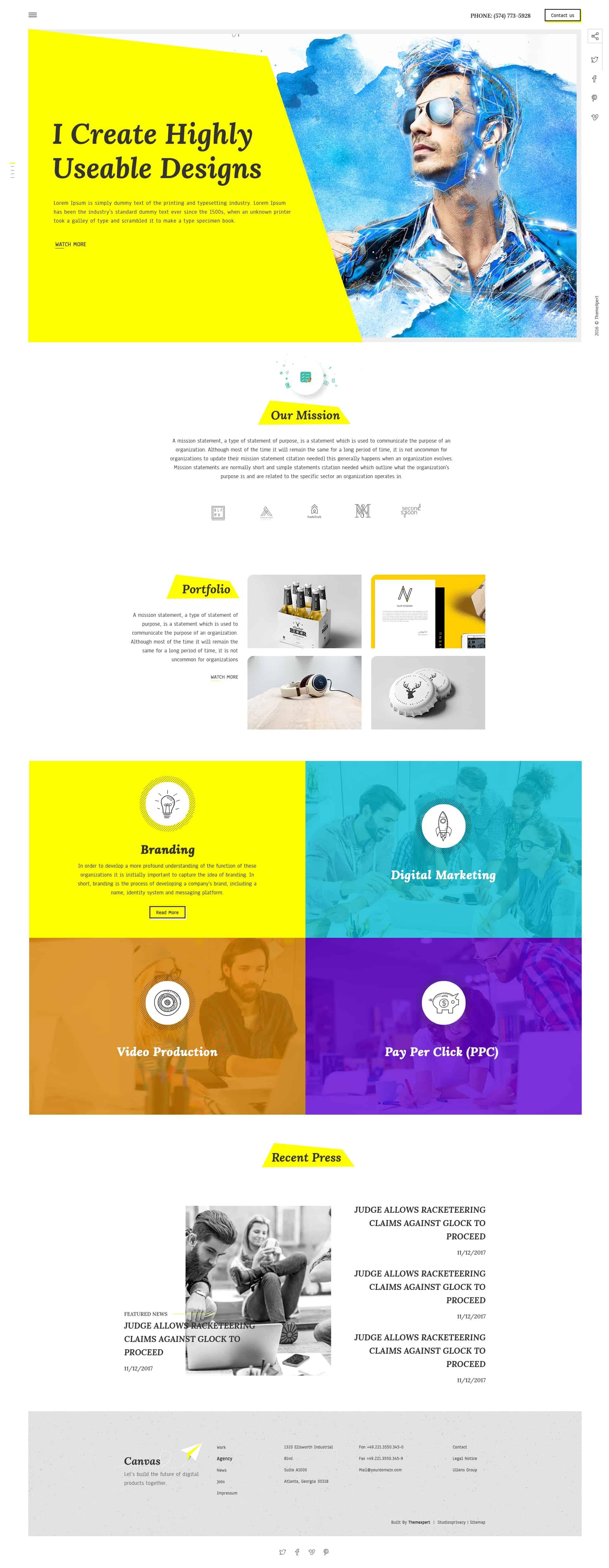 Gen - Creative Multi Concept Landing Page 1
