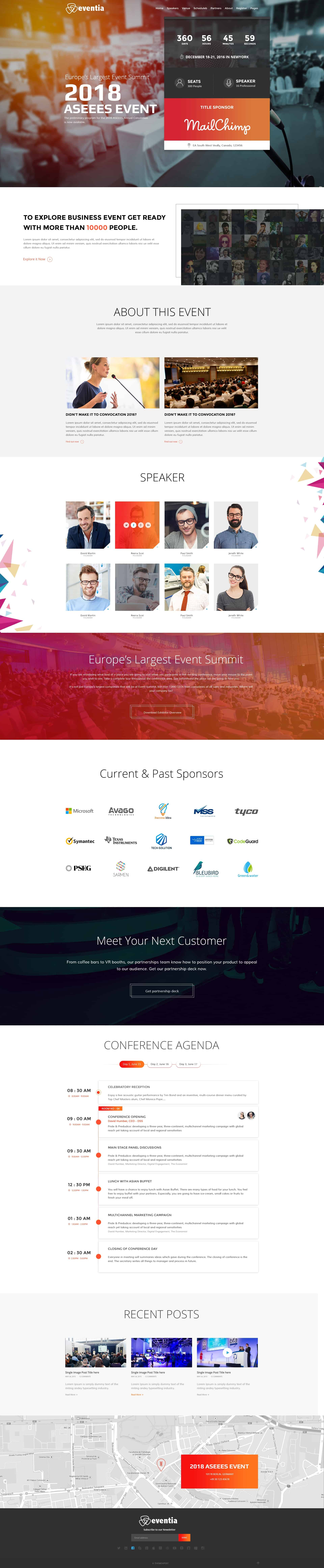 Conference & Event Management PSD Template 1