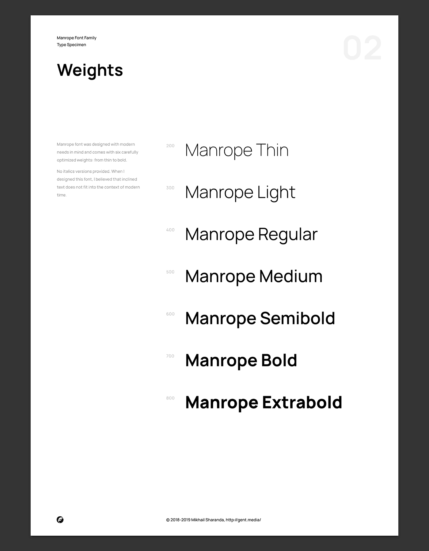 Manrope: Modern & geometric sans-serif typeface 3