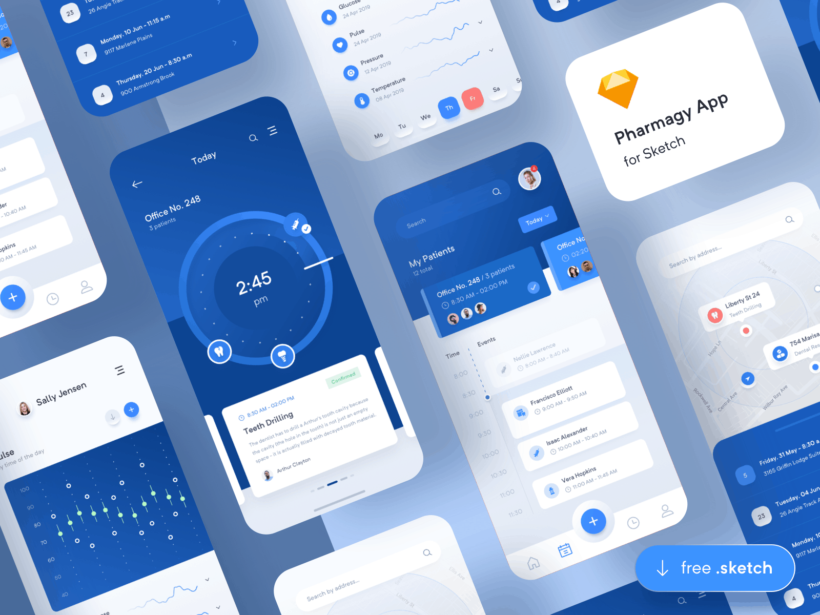 Pharmagy - Medical App UiKit for Sketch 1