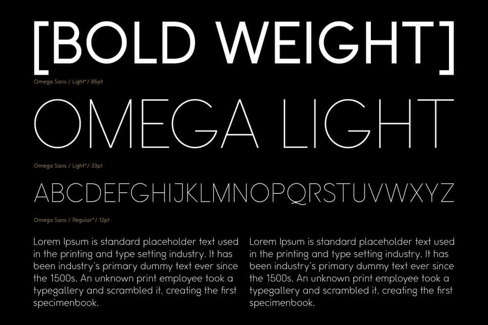 Omega Sans: A classic sans-serif font 6