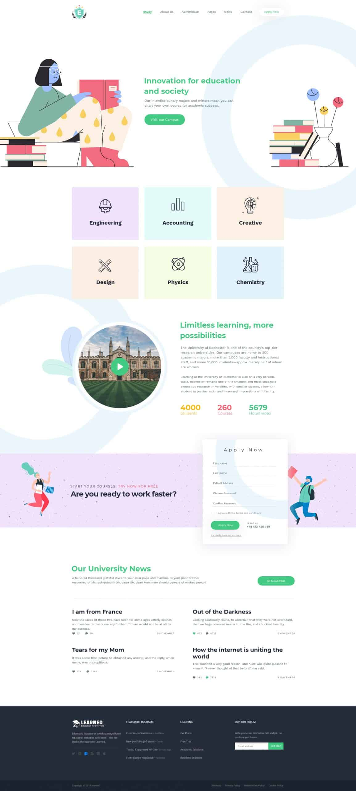Education & LMS PSD Template 2