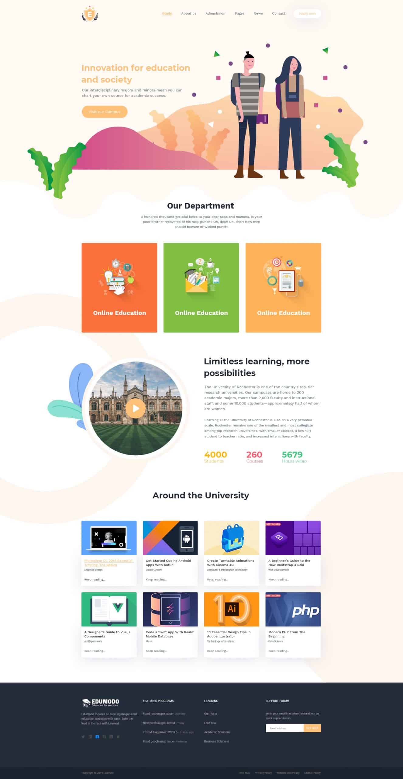 Education & LMS PSD Template 1